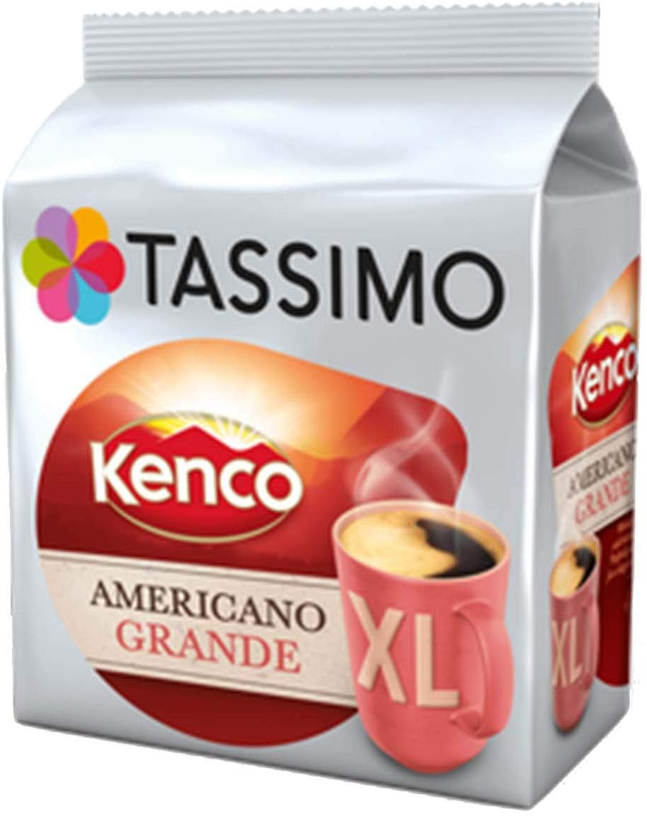 Tassimo Kenco Americano Grande Coffee Pods (Pack of 5, 80 pods) for £13.49 on Amazon