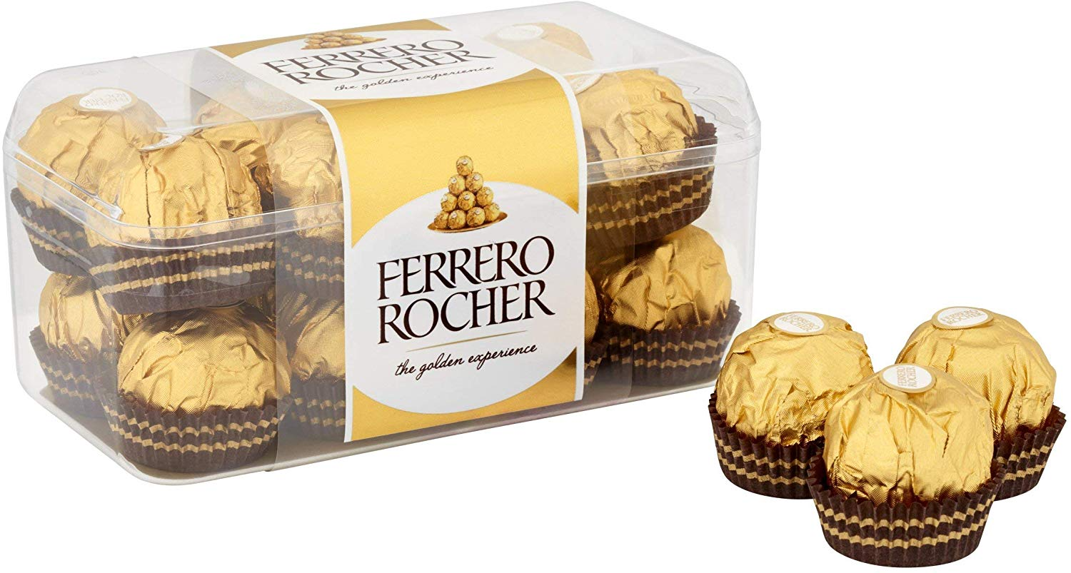 Ferrero Rocher Chocolate Gift Set  Box of 80 Pieces (5 Boxes of 16 Pieces) Now £17.5