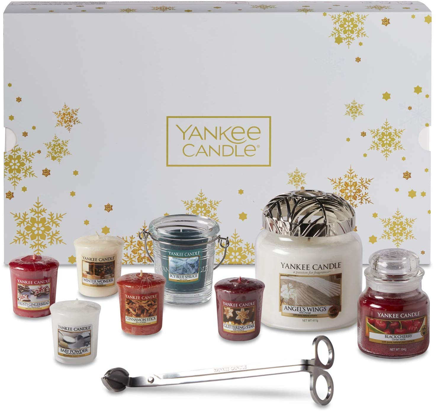 Yankee Candle Christmas Gift Set with Scented Candles & Accessories, 11-Piece for £27.99