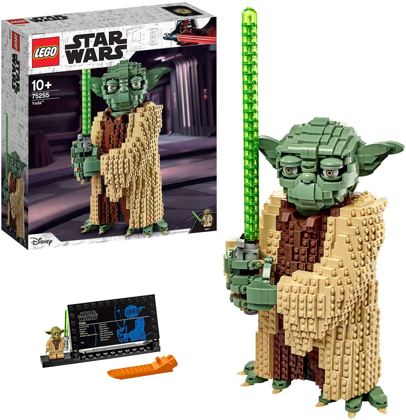 Save £20.5 on LEGO Star Wars Yoda Construction Set, Collectable Model with Display Stand