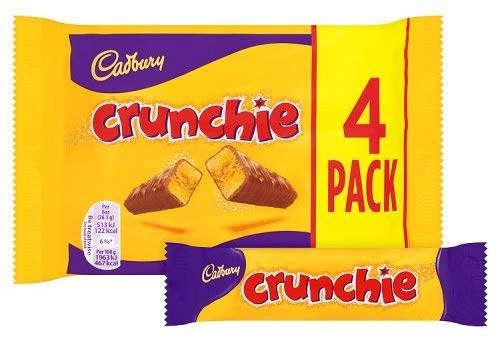 Cadbury Crunchie Chocolate Bar, 4×26.1g (add on item)