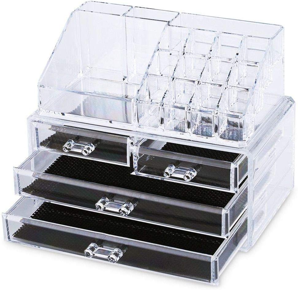 Cosmetic Organiser Drawers Clear Jewellery Box is up to 70% off