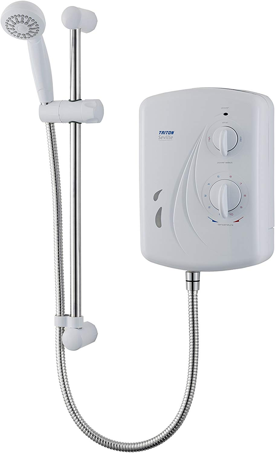 Half Price Triton Showers MOSV01SG Seville Universal Electric Shower, 10.5 KW