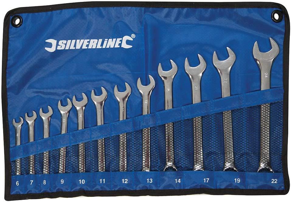 Silverline Combination Spanner Set 6-22 mm – 12 Pieces £9.69 Prime + £4.49 Non Prime