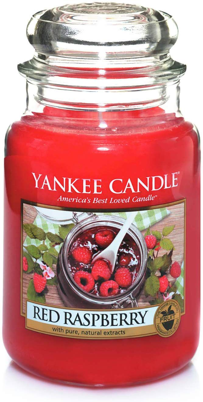 42% off Yankee Candle Large Jar Scented Candle, Red Raspberry, Up to 150 Hours Burn Time