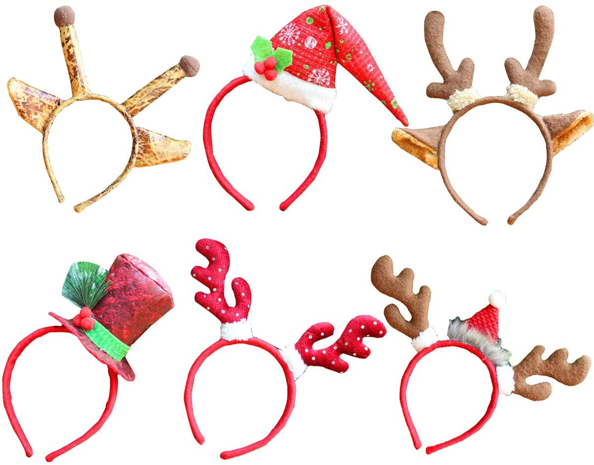Half Price 6 Pcs Christmas Decoration Reindeer Antlers Headband