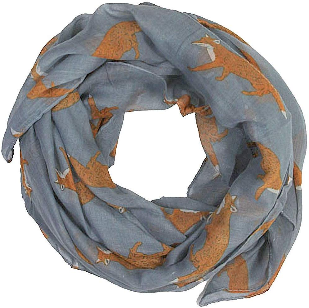Women scarves fox print large lightweight scarf shawl £1.67 Delivered