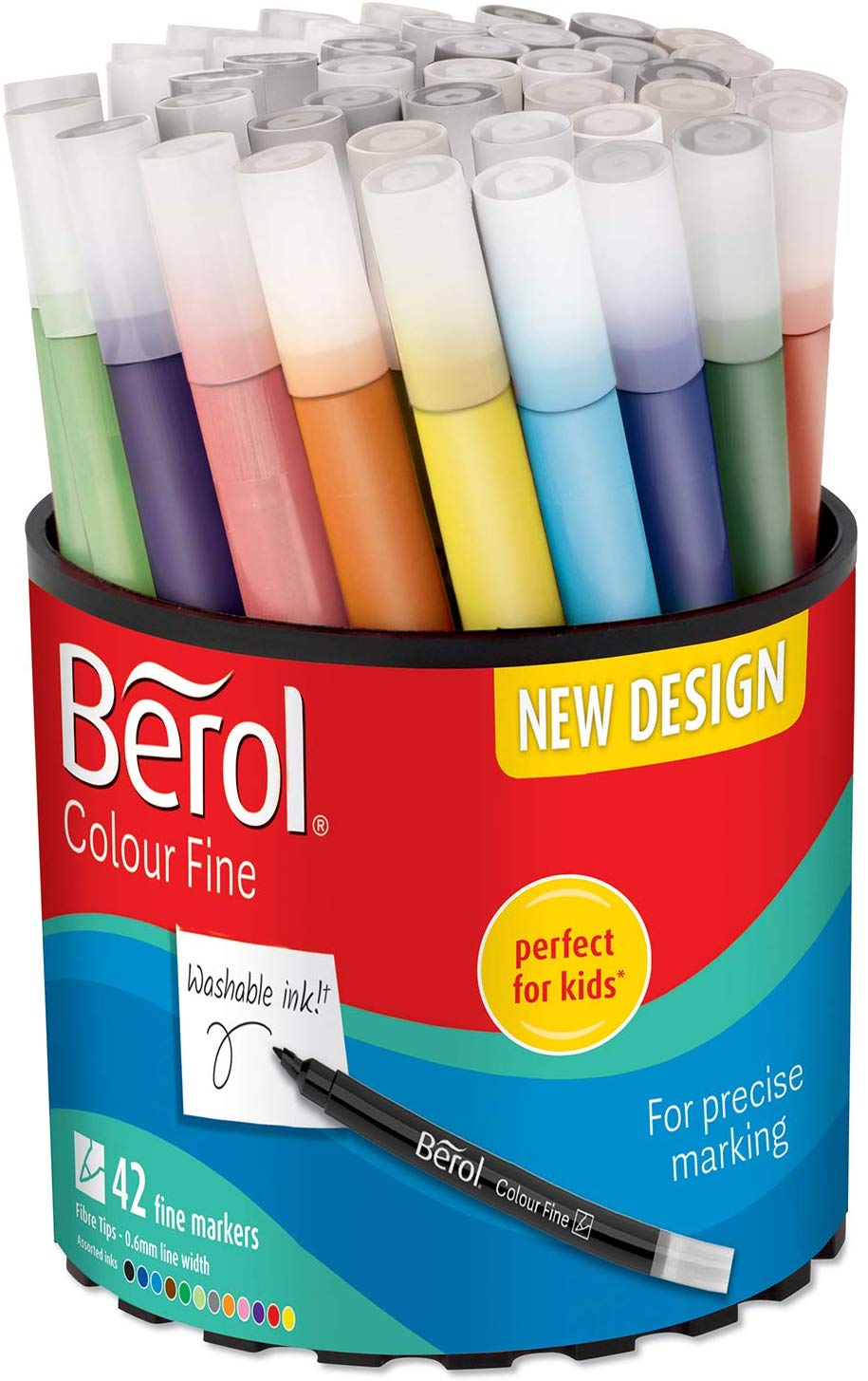 Berol Felt Tip Colouring Pens, Fine Point (0.6mm), Tub of 42 Now £8.99 on Amazon