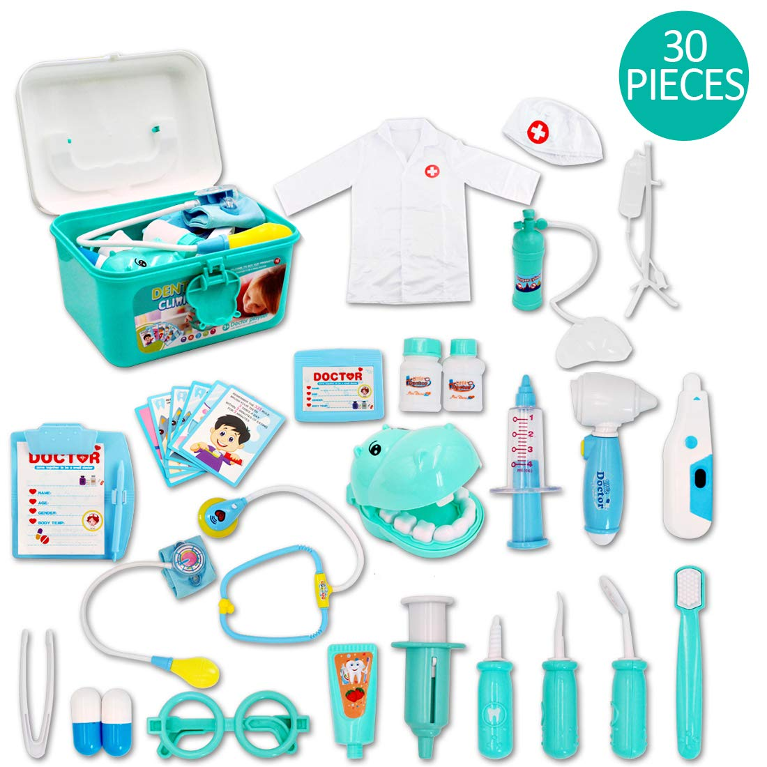 Kids Role Play Dentist, Surgeon & Vet Medical 30 Piece Kit for £12.74 on Amazon