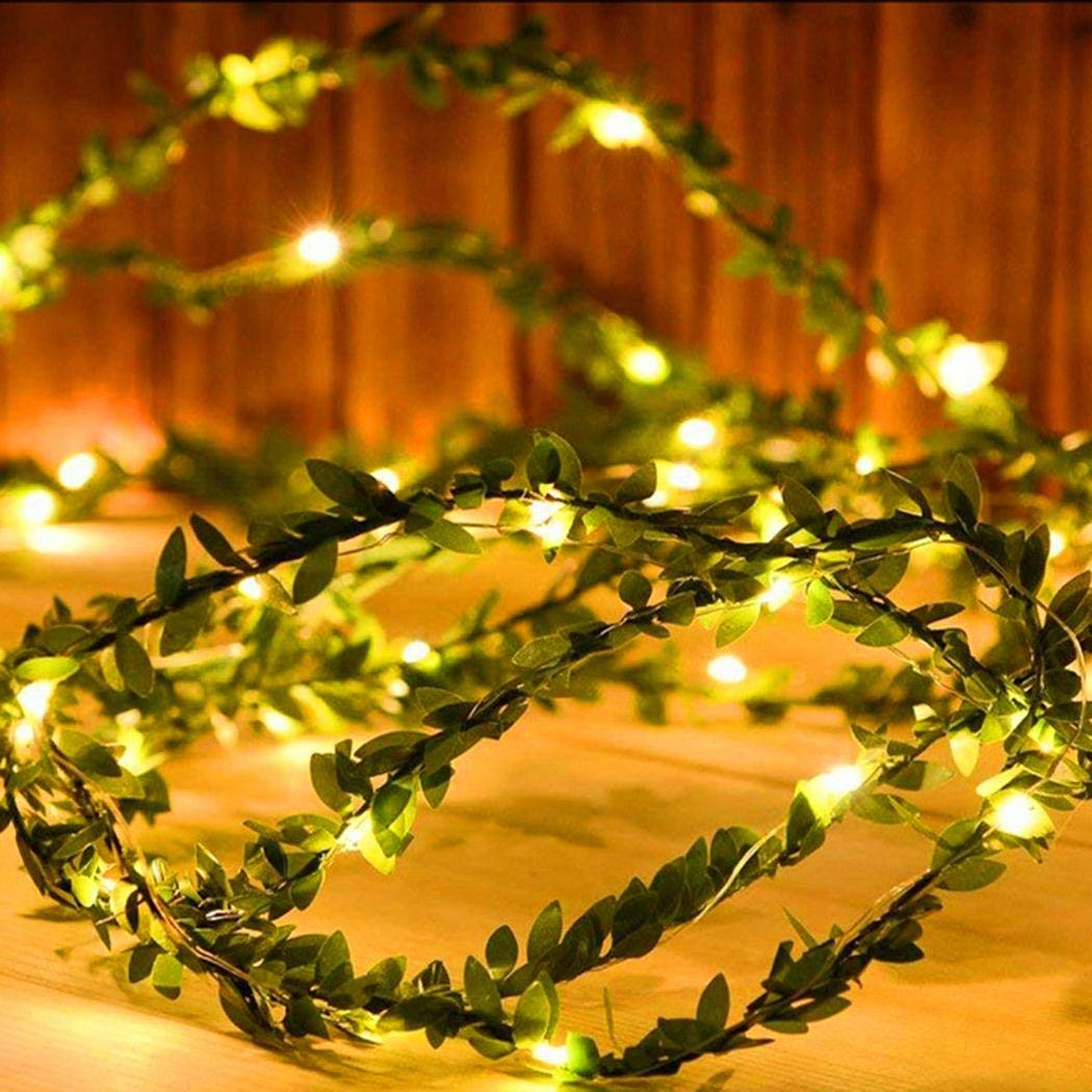 75% off 2m 20 LED Rattan Leaf Garland Copper Wire Fairy String Light