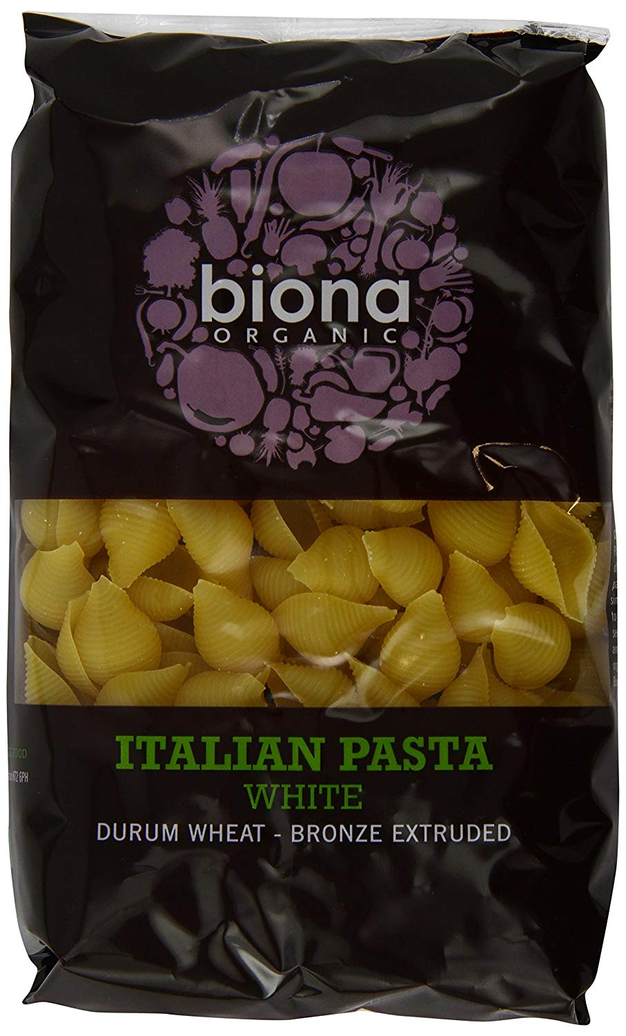 Biona Organic Wheat Pasta White Conchiglie 500g (Pack of 12) £16.12