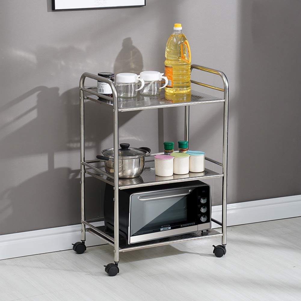79% off 3 Shelves Kitchen Trolley Stainless Steel