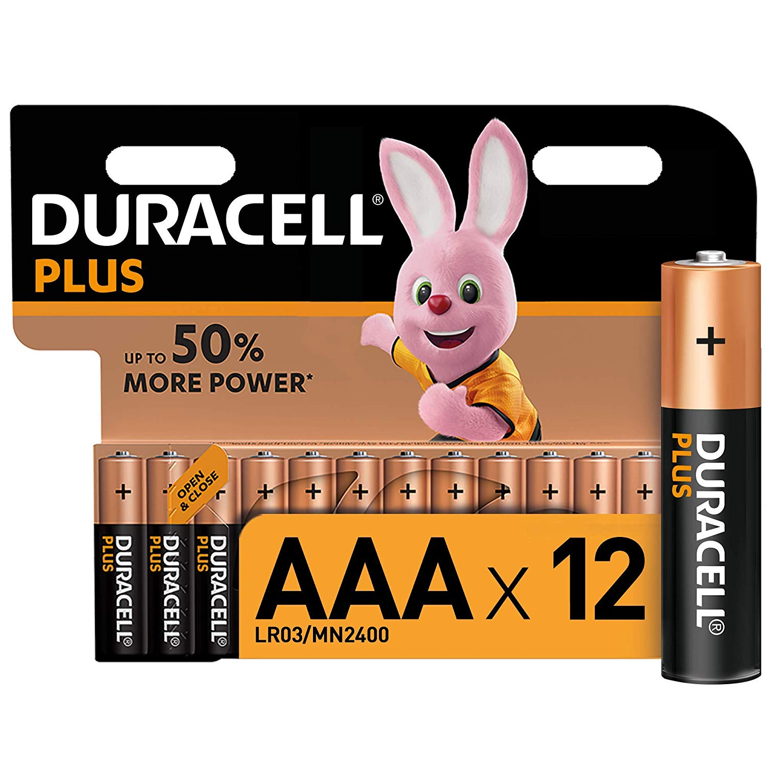 Duracell Plus AAA Alkaline Batteries, 1.5 V Pack of 12