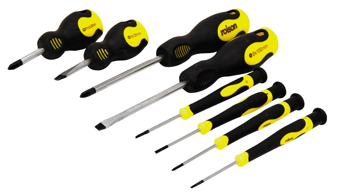 Rolson Screwdriver Set – 8 Pieces £3.74 (add on )