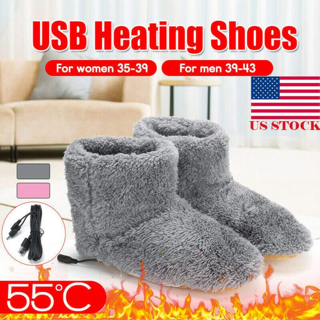 1 Pair USB Electric Heating Slippers 74% off + Free Delivery