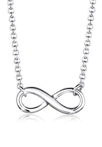 Elli Women's 925 Sterling Silver Infinity Symbol Pendant Love Friendship Necklace