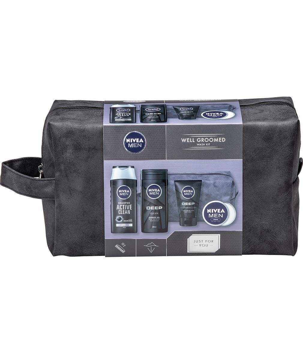 NIVEA MEN Well Groomed Gift Set for Him (5 Products)