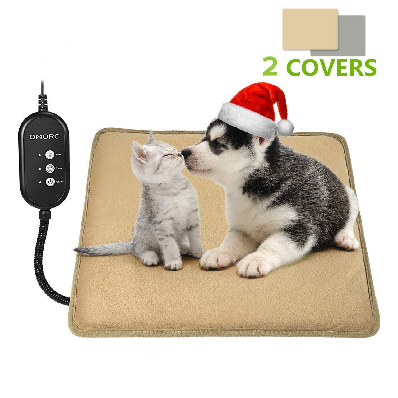 Pet Heating Pad with 2 Replaceable Cover