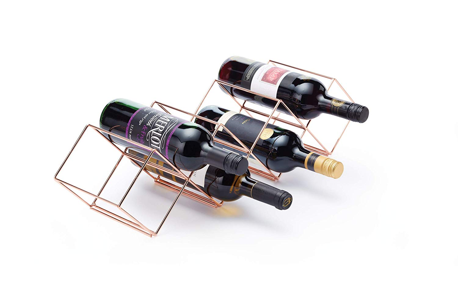 BarCraft Wire 7 Bottle Stackable Wine Rack, 58 x 14.5 x 14.5 cm