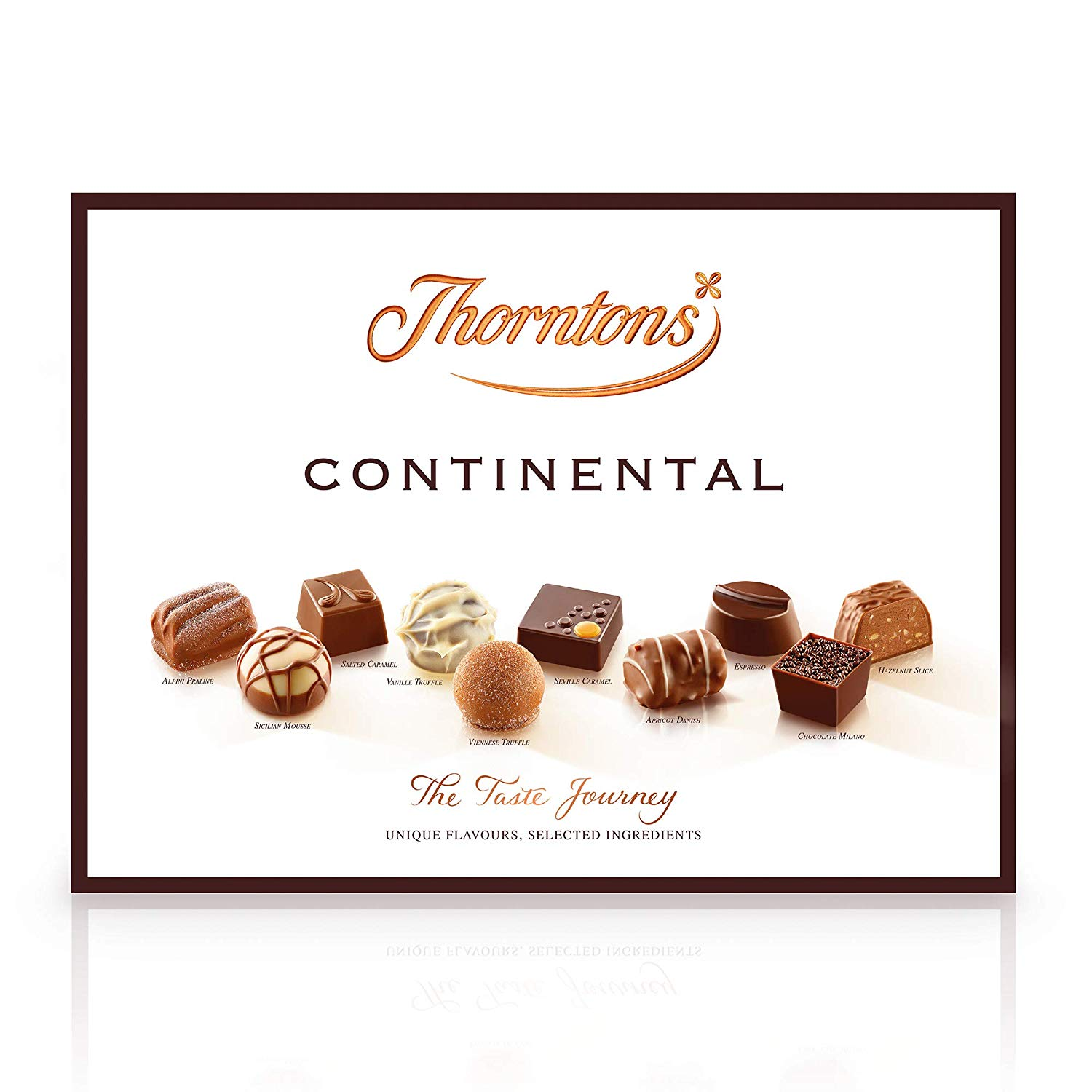 Thorntons Continental Chocolate Gift Set, Assorted White, Milk and Dark Chocolates, 25 Pieces