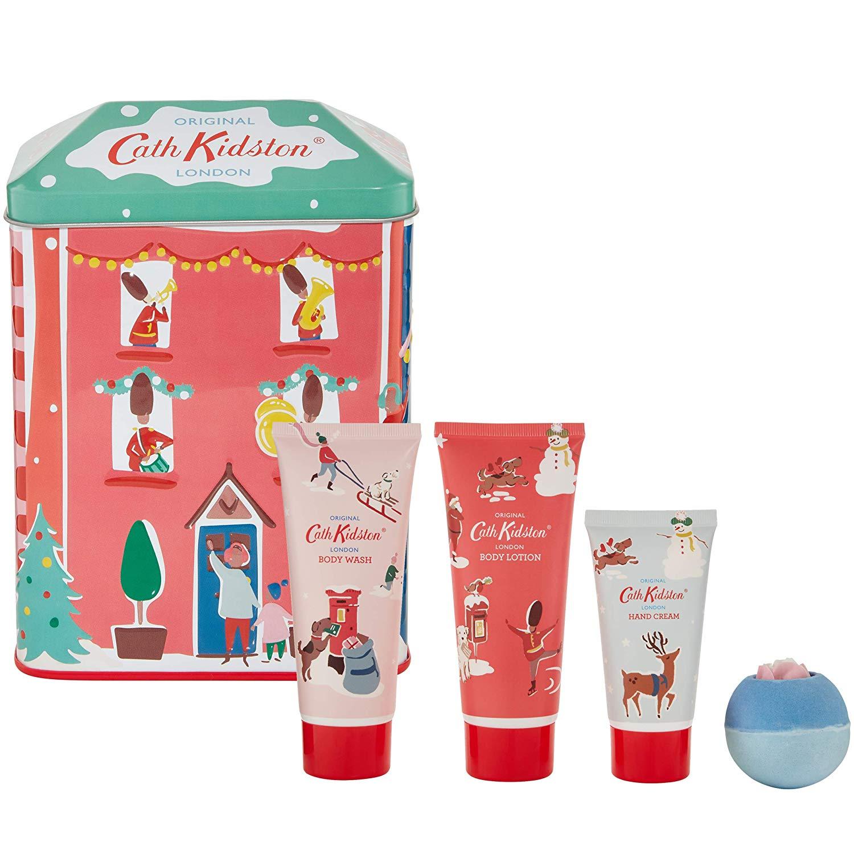 Cath Kidston Beauty Christmas Bathing House Tin Set