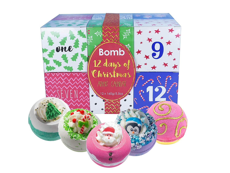 Handmade 12-Day Bath Blaster Bath Bomb Advent Calendar [Contains 12-Pieces]