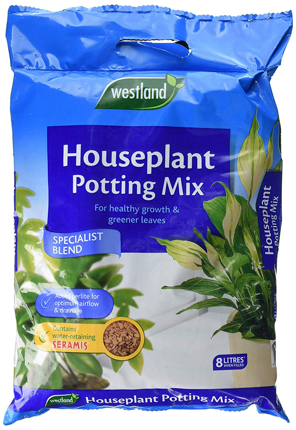 Westland Houseplant Potting Compost Mix and Enriched with Seramis, 8 L for £3.19 at Amazon