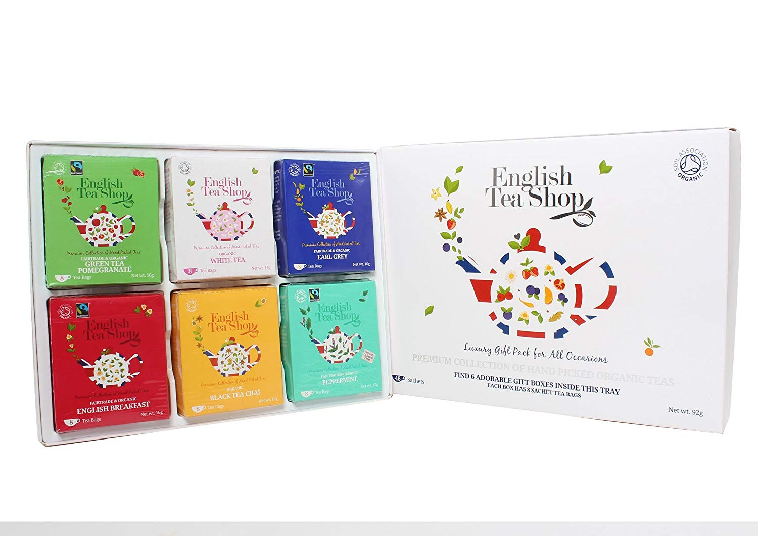 English Tea Shop Organic Luxury Gift Tray (Pack of 48 Tea Bags) Now £6.75