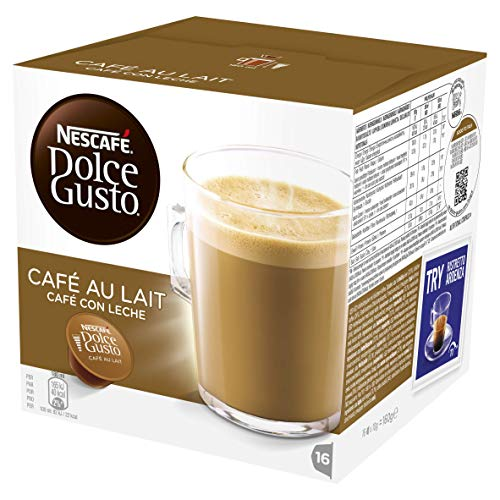 NESCAFE DOLCE GUSTO Café Au Lait Coffee Pods (Pack of 3 – Total 48 Capsules) Now £9 at Amazon