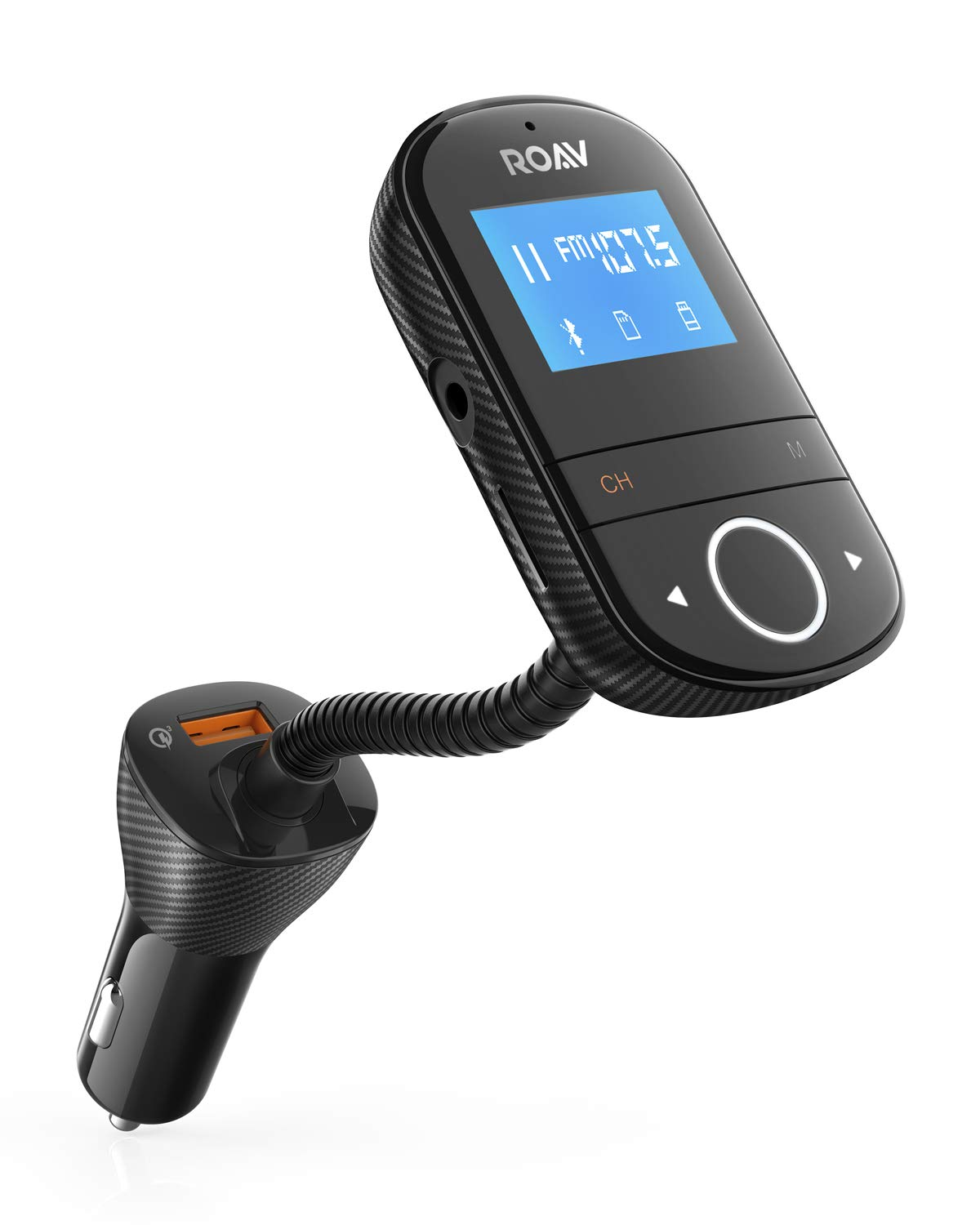 Roav SmartCharge F3, by Anker, Wireless In-Car FM Transmitter Radio Adapter