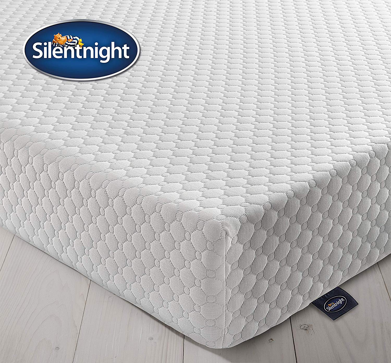 49% Silentnight 7 Zone Memory Foam Rolled Mattress, Made in the UK, Medium Firm, UK King