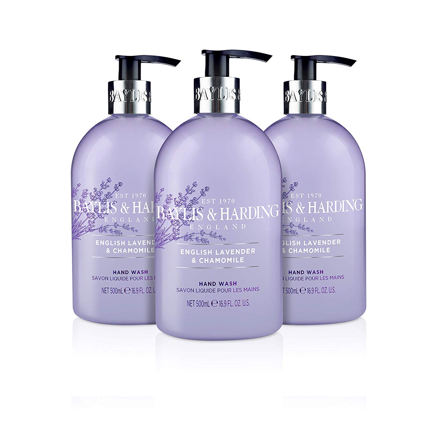 Baylis & Harding English Lavender and Chamomile Hand Wash, 500 ml, Pack of 3 Now for £4.5 at Amazon