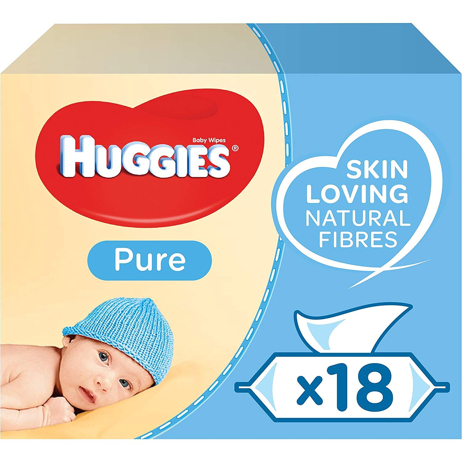 Huggies Pure Baby Wipes, 18 Packs (1008 Wipes) £9.75 at Amazon