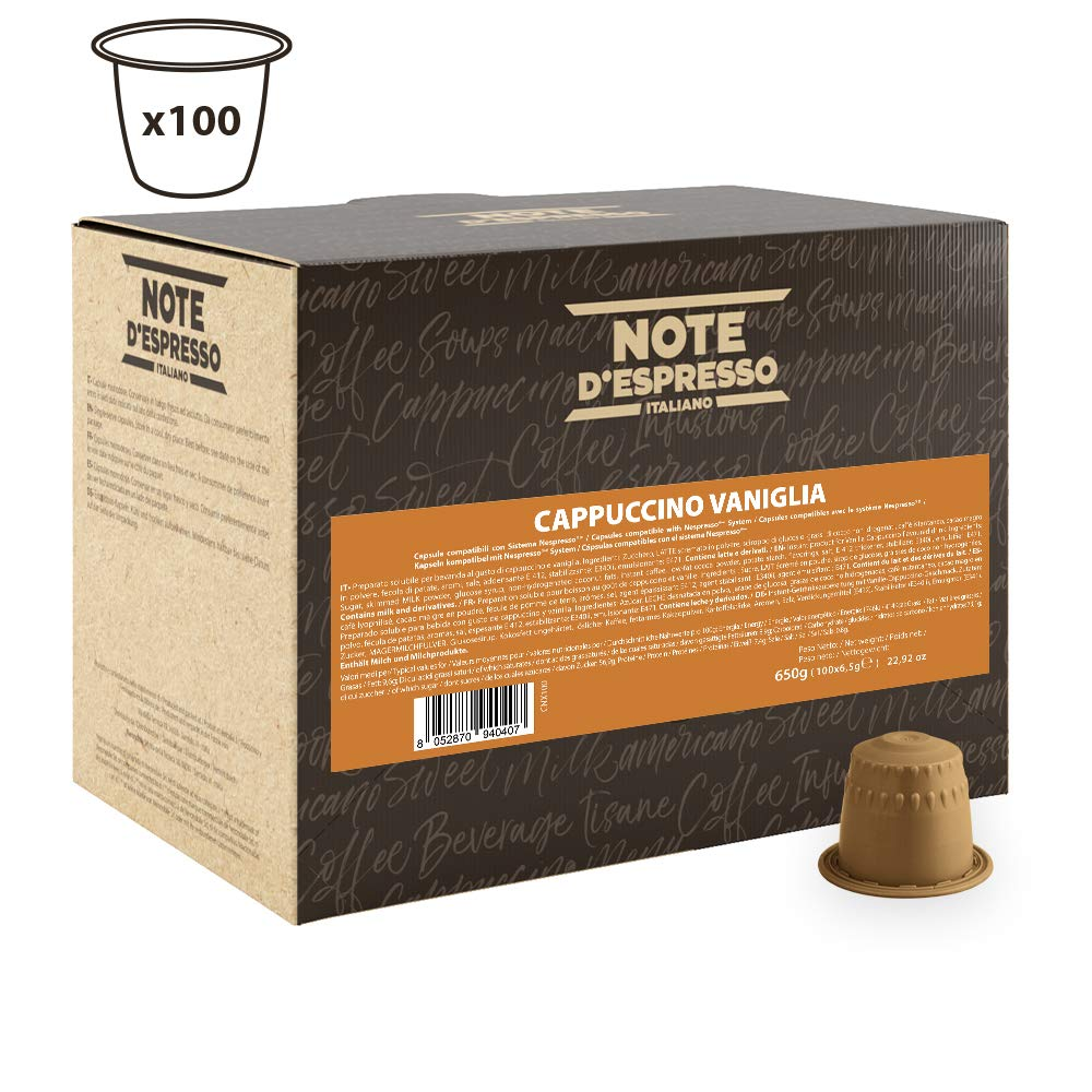 Note d'Espresso Vanilla cappuccino Instant Capsules 6.5g x 100 Capsules £11.24