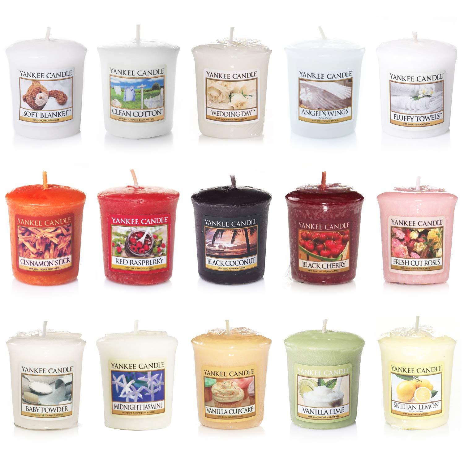 Yankee Candle Votive Value Bundle with 15 Votive Scented Candles