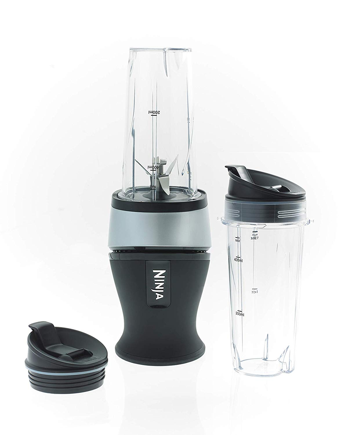 Ninja Slim Blender and Smoothie Maker 700 W, Black and Silver